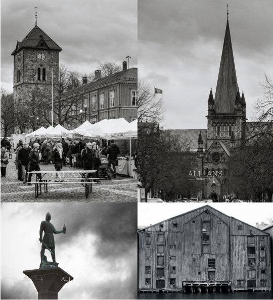 Trondheim town sqaure